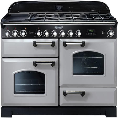 Rangemaster 100650 Classic Deluxe 110cm Dual Fuel Range Cooker - Royal Pearl