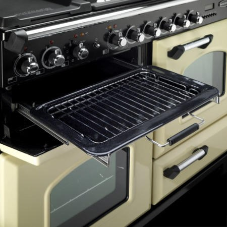 Rangemaster 100950 Classic Deluxe 110cm Electric Range Cooker with Induction Hob - Olive Green