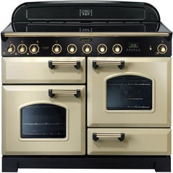 Rangemaster 90440 Classic Deluxe Cream & Brass 110cm Electric Range Cooker With Induction Hob