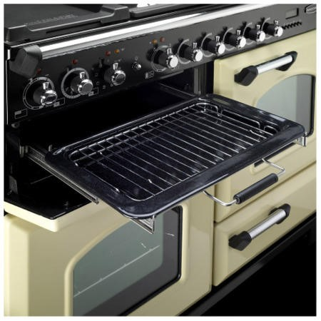 Rangemaster 84440 Classic Deluxe 110cm Electric Range Cooker With Ceramic Hob - Cranberry And Chrome