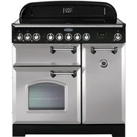 Rangemaster 100610 Classic Deluxe 90cm Electric Range Cooker with Ceramic Hob - Royal Pearl