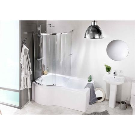 Curved Bath Shower Screen- Left Hand Orbital