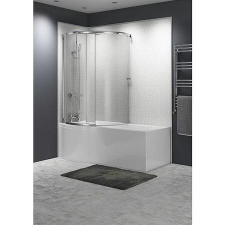 Right hand orbital curved bath screen