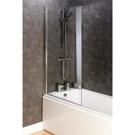Easy Clean Square Bath Screen 8mm Glass