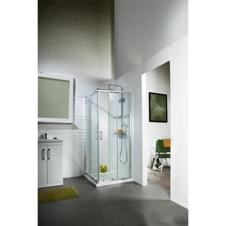 Corner Entry Sliding Shower Enclosure 800mm - 6mm Glass - Claritas Range