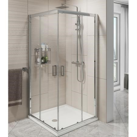 Corner Entry Shower Screen Enclosure 900mm x 900mm - 6mm Glass - Claritas Range
