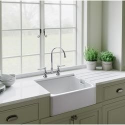 Rangemaster CFBL595WH Farmhouse Belfast Ceramic Sink - With Waste Kit