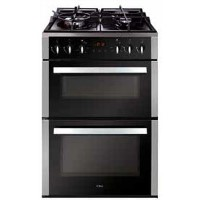 CDA CFD650SS 60cm Double Oven Dual Fuel Cooker With Glass-base Hob - Stainless Steel