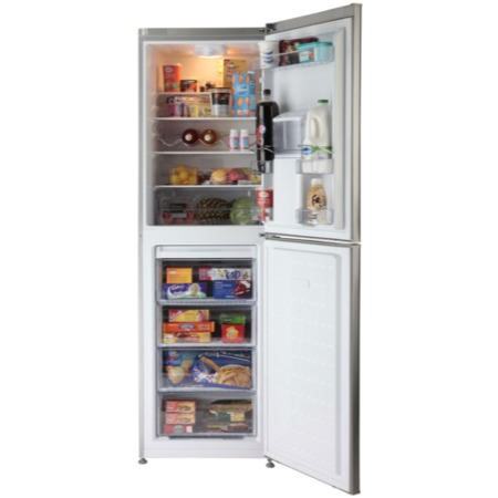 GRADE A2 - Beko CFD6914APS 60cm Family Sized Freestanding Fridge Freezer with Water Dispenser - Silver