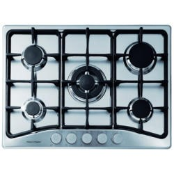 Fisher & Paykel CG705CWCFX1 89276 Five Burner 70cm Gas Hob Brushed Stainless Steel