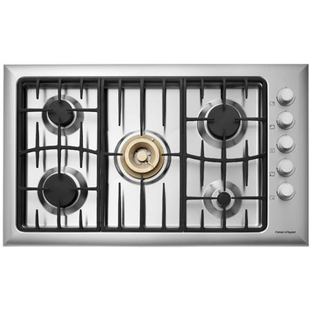 Fisher & Paykel CG905DWACX1 89287 Five Burner 90cm Gas Hob - Brushed Stainless Steel