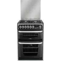 Hotpoint CH60DHKFS Harrogate Double Oven 60cm Dual Fuel Cooker - Black