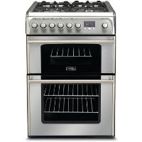 Hotpoint CH60DPXFS 60cm Wide Double Oven Dual Fuel Cooker - Stainless Steel