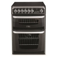 HOTPOINT CH60EKKS Kendal 60cm Double Oven Electric Cooker With Ceramic Hob - Black Best Price, Cheapest Prices