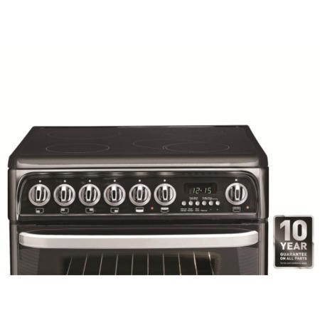 Hotpoint CH60EKKS Kendal 60cm Double Oven Electric Cooker With Ceramic Hob - Black
