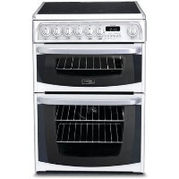 HOTPOINT CH60EKWS Kendal 60cm Double Oven Electric Cooker With Ceramic Hob - White Best Price, Cheapest Prices