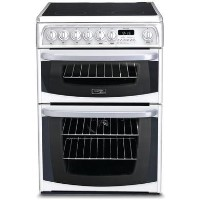 Hotpoint CH60EKW Kendal Double Oven 60cm Electric Cooker in White Best Price, Cheapest Prices