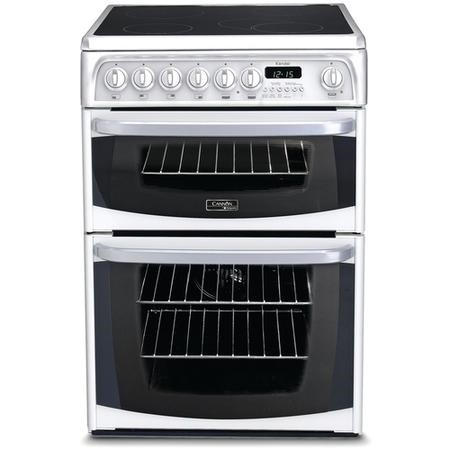 Hotpoint CH60EKW Kendal Double Oven 60cm Electric Cooker with Ceramic Hob - White
