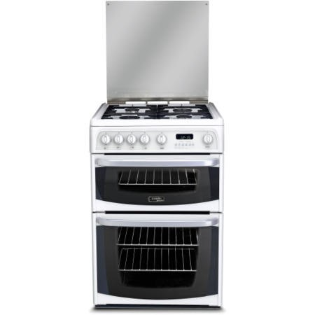 Hotpoint CH60GCIW Carrick Double Oven 60cm Gas Cooker - White