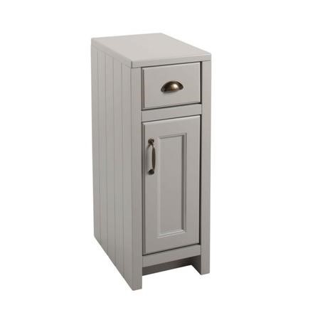 Grey Traditional Free Standing Bathroom Cabinet - W300 x H880mm