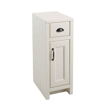 White Traditional Free Standing Bathroom Cabinet - W300 x H820mm