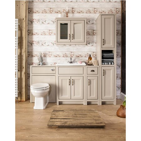 Taylor & Moore French Grey Traditional WC Toilet Unit without Toilet - W600 x D303mm