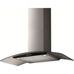 NordMende CHGLS903IX 90cm Stainless Steel With Curved Glass Cooker Hood
