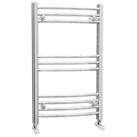 Curved Chrome Bathroom Towel Radiator - 500 x 800mm