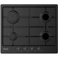 Candy CHW6BRBB 59cm Four Burner Gas Hob With Enamelled Pan Stands - Black