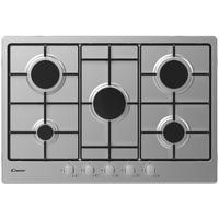 Candy CHW7X 75cm Five Burner Gas Hob - Stainless Steel With Enamelled Pan Stands