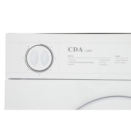 CDA CI921 7kg Integrated Vented Tumble Dryer - White