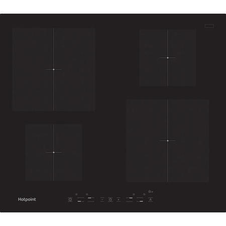 Hotpoint CIA640C 58cm Touch Control Four Zone Induction Hob Black