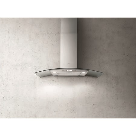 Elica CIRCUS-HE-70 High Performance Curved Glass 70cm Chimney Cooker Hood Stainless Steel