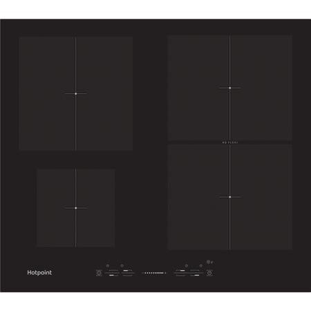 Hotpoint CIS641FB 59cm Touch Control Four Zone Induction Hob - Black With Bevelled Edges