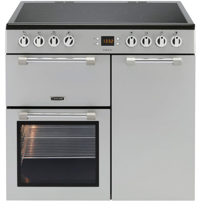 Leisure Ck90c230s Cookmaster Silver 90cm Electric Range