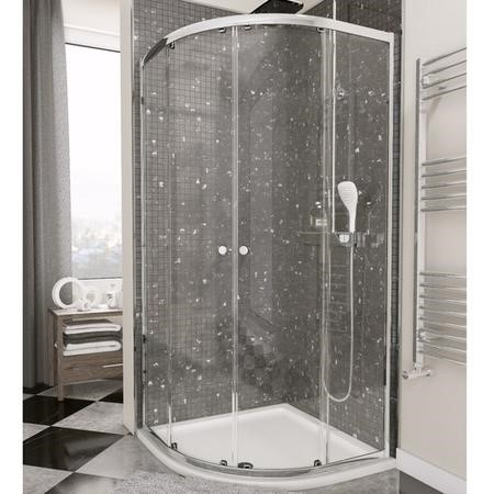 Claritas 4mm Glass Quadrant Shower Enclosure - 800 x 800mm