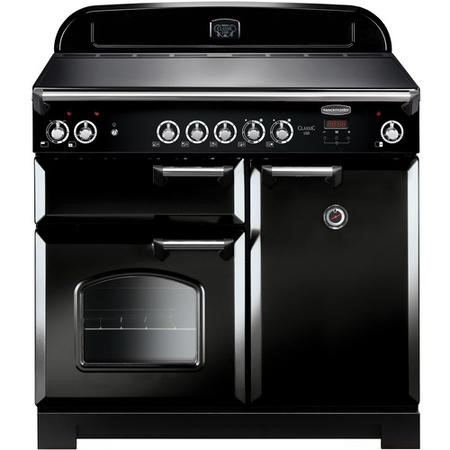 Rangemaster CLA100ECBLC 11760 Classic 100cm Electric Range Cooker With Ceramic Hob  - Black With Chr