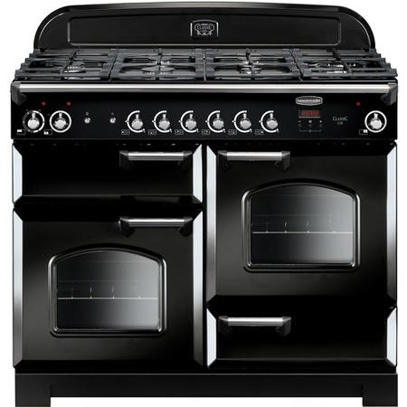 Rangemaster CLA110DFFBLC 11678 Classic 110cm Dual Fuel Range Cooker  - Black With Chrome Trim