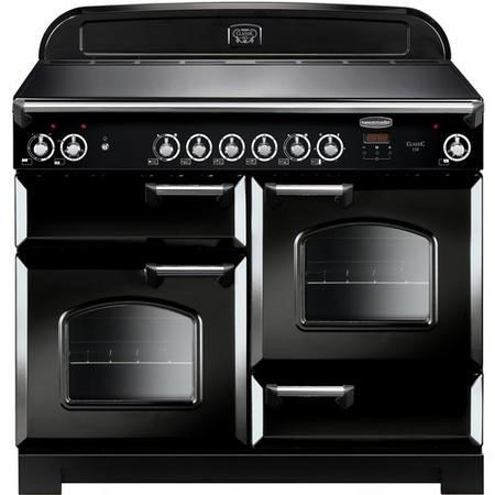 Rangemaster CLA110ECBLC 11751 Classic 110cm Electric Range Cooker With Ceramic Hob  - Black With Chr