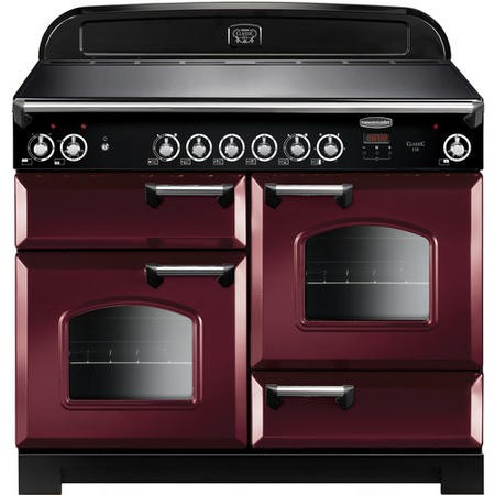 Rangemaster CLA110ECCYC 11753 Classic 110cm Electric Range Cooker With Ceramic Hob  - Cranberry With