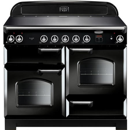 Rangemaster CLA110EIBLC 11703 Classic 110cm Electric Range Cooker With Induction Hob  - Black With C