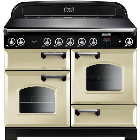 Rangemaster CLA110EICRC 11704 Classic 110cm Electric Range Cooker With Induction Hob  - Cream With C
