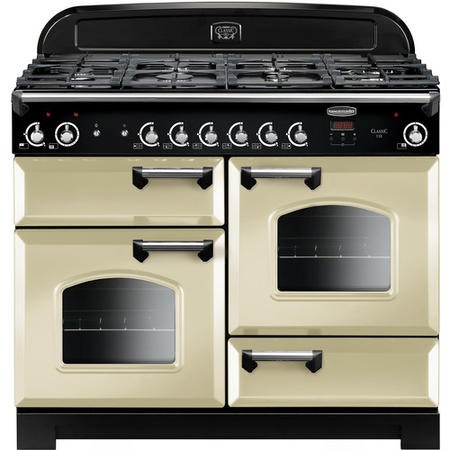 Rangemaster CLA110NGFCRC 11667 Classic 110cm Gas Range Cooker  - Cream With Chrome Trim