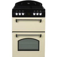 Leisure Beko CLA60CEC Classic 60cm Double Oven Electric Cooker With Ceramic Hob Cream Best Price, Cheapest Prices