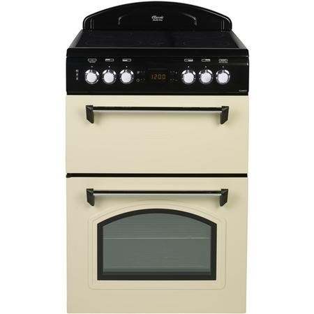 Leisure Beko CLA60CEC Classic 60cm Double Oven Electric Cooker With Ceramic Hob Cream