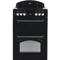 Leisure Beko CLA60CEK Classic 60cm Double Oven Electric Cooker With Ceramic Hob Black Best Price, Cheapest Prices