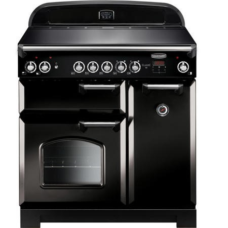 Rangemaster CLA90ECBLC 11742 Classic 90cm Electric Range Cooker With Ceramic Hob  - Black With Chrom
