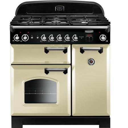 Rangemaster CLA90NGFCRC 11673 Classic 90cm Natural Gas Range Cooker  - Cream With Chrome Trim