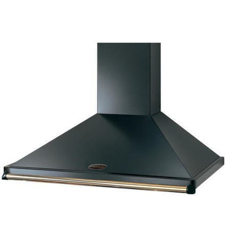 Rangemaster CLAHDC90BB 63041 Classic 90cm Chimney Cooker Hood Black And Brass