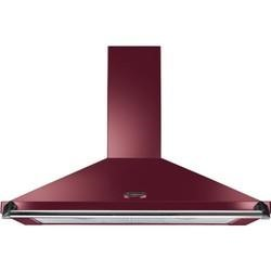 Rangemaster Classic 90cm Chimney Cooker Hood Cranberry And Chrome